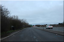 SP6847 : Layby on the A43, Towcester by David Howard