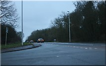 SP7047 : Junction on the A5, Towcester by David Howard