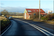 NT9629 : Closed premises on A697 by Bendor House by Robin Webster