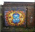 SO5977 : Graffiti on a derelict building by Mat Fascione