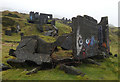 SO5977 : Derelict quarry buildings at Titterstone Clee Hill by Mat Fascione