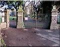 SO3014 : Park entrance gates, Abergavenny by Jaggery