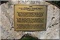 SK9856 : Wellingore Windmill Field - dedicatory plaque by Bob Harvey