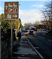 SO2914 : Wordless brown directions sign alongside Brecon Road, Abergavenny by Jaggery