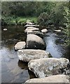 SX6675 : Stepping Stones at Laughter Hole by Chris Thomas-Atkin