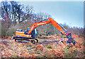 SO6313 : Digger on Crabtree Hill by Des Blenkinsopp