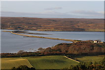NC5758 : A bird's view of the Kyle of Tongue causeway by Des Colhoun