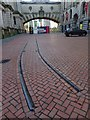SP0686 : Original Birmingham tram track by Philip Halling