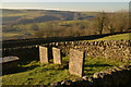 SK2276 : Three of the Riley Graves at Eyam, Derbyshire by Andrew Tryon