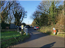 SJ7758 : Car park for the Salt Line at Hassall Green  by Stephen Craven