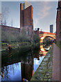 SJ8397 : Rochdale Canal, Remains of Sawmill at Castlefield by David Dixon