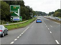 NS3337 : Northbound A78 near Irvine by David Dixon