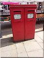 SH5872 : A pair of type G EIIR pillar boxes on the High Street, Bangor by Meirion