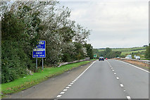NS3530 : Northbound A78 near to Loans by David Dixon