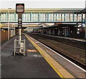 SS7597 : Signal PT 3123 BR on platform 1, Neath station by Jaggery