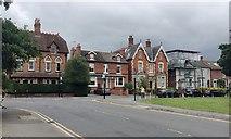 SP2871 : Architectural allsorts, Station Road, Kenilworth by Robin Stott