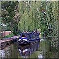 SJ8841 : Narrowboat near Trentham in Stoke-on-Trent by Roger  Kidd