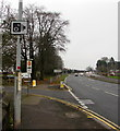 ST3089 : Speed camera sign on a Malpas Road lamppost, Newport by Jaggery