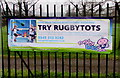 ST3089 : Try Rugbytots banner, Newport by Jaggery
