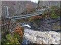 NH4458 : Suspension Bridge over Rogie Falls by valenta