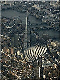 TQ3379 : London Bridge railway station and The Shard from the air by Thomas Nugent