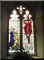 TM2737 : WW2 War Memorial window in Trimley St. Martin's church by Adrian S Pye