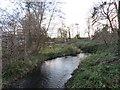 TQ2865 : River Wandle at Hackbridge by Malc McDonald