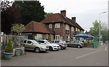 SU5766 : The Angel pub, Woolhampton by David Howard