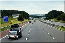 SD4953 : M6 Motorway between Galgate and Forton by David Dixon
