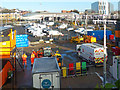 ST3088 : Temporary works compound for Network Rail staff and equipment, Newport Station by Robin Drayton
