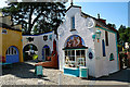 SH5837 : Lady's Lodge and Round House at Portmeirion by Jeff Buck