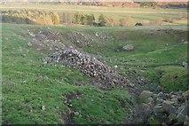 NT7724 : Quarry, Morebattle Hill by Richard Webb