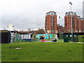 SE2933 : Outdoor games, Wellington Place, Leeds by Stephen Craven