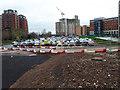 SE2933 : Car park, Wellington Place, Leeds by Stephen Craven