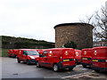 SE2627 : Ventilation shaft and Royal Mail vehicles, Morley by Stephen Craven