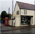 SO6202 : Red phonebox on a Lydney corner by Jaggery