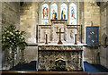 SP1622 : St Mary, Lower Slaughter - Sanctuary by John Salmon