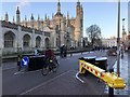 TL4458 : Anti-terror barrier across King's Parade in Cambridge - 2 of 5 by Richard Humphrey