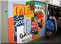 TG2208 : Norwich Market - mural by Evelyn Simak