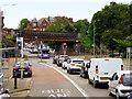 NS5268 : Disused Railway Bridge over Dumbarton Road by David Dixon