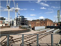 SJ8297 : Former railway route to Manchester Liverpool Road Station by David Robinson