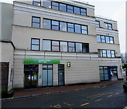 SS7597 : Summerfield Place side of Jobcentre Plus, Neath by Jaggery
