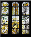 SK3898 : Stained glass in the old church at Wentworth by Dave Pickersgill