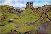 NG4162 : Fairy Glen and Castle Ewan by Andy Stephenson