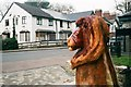 SO5924 : Lion sculpture and former pub by John Winder
