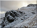 NN3001 : Small rocky buttress on Tullich Hill by Alan O'Dowd