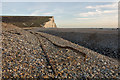 TV5197 : Recently exposed railway track at Cuckmere Haven by Andrew Diack