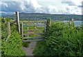 SN0540 : Gate along the Pembrokeshire Coast Path by Mat Fascione
