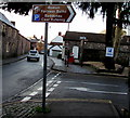 ST3490 : Roman Fortress Baths direction sign, High Street, Caerleon by Jaggery