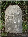 SX4170 : Old Milestone by the A390 in St Ann's Chapel by Rosy Hanns